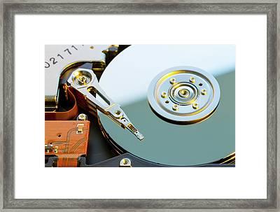 Hard Disc Drive Framed Print by Wladimir Bulgar