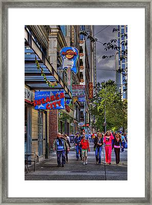 Hard Rock Cafe - Seattle Framed Print by David Patterson
