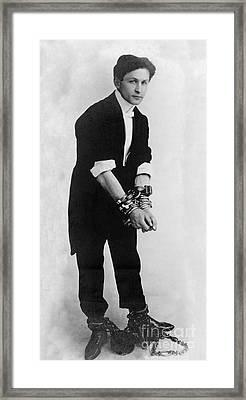 Harry Houdini, Hungarian-american Framed Print