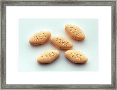 Harvoni Hepatitis C Drug Framed Print by George Post