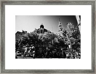 headquarters of the fire department of Santiago Chile Framed Print by Joe Fox