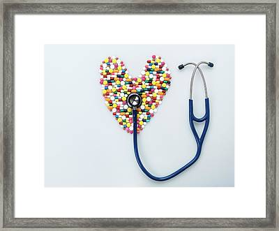 Healthcare Abstract Framed Print by Tek Image