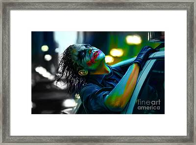 Heath Ledger Framed Print