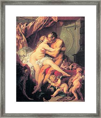 Hercules And Omphale Framed Print by Francois Boucher