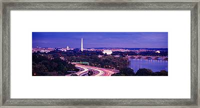 High Angle View Of A Cityscape Framed Print