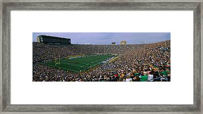 High Angle View Of A Football Stadium Framed Print