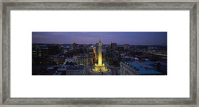 High Angle View Of A Monument Framed Print