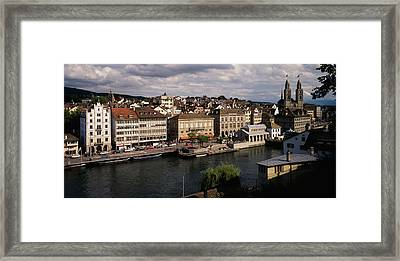 High Angle View Of Buildings Framed Print by Panoramic Images