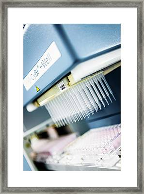 High-throughput Screening Machine Framed Print by Gustoimages