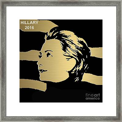 Hillary Clinton Gold Series Framed Print