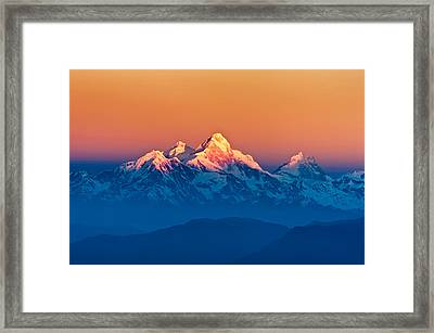 Himalayan Mountains View From Mt. Shivapuri Framed Print