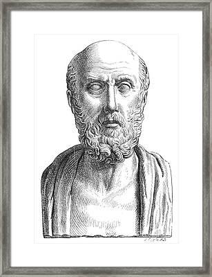 Hippocrates (c460-c377 B.c.) Framed Print by Granger