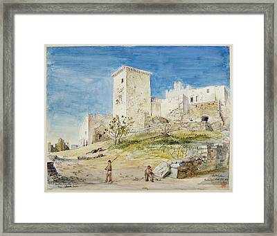 Historic Buildings In Greece Framed Print by British Library
