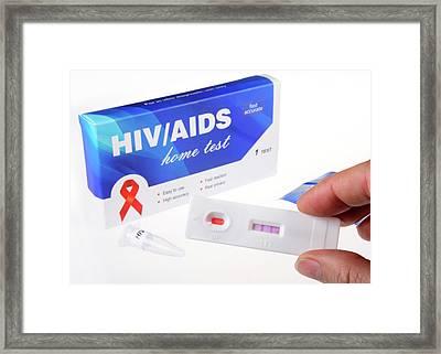 Hiv Home Blood Test Framed Print