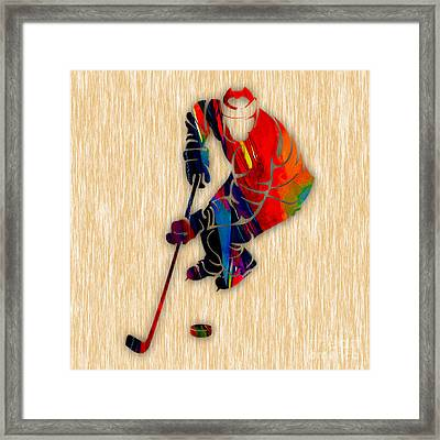 Hockey Framed Print by Marvin Blaine