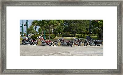 Hogs And Choppers Framed Print by Laura Fasulo
