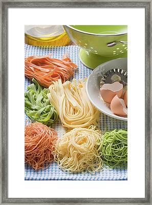 Home-made Pasta With Ingredients Framed Print