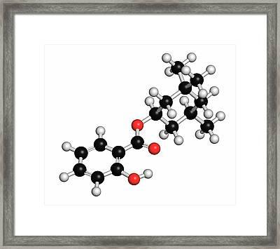 Homosalate Sunscreen Molecule Framed Print by Molekuul