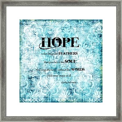 Hope Framed Print by Bonnie Bruno