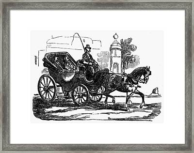 Horse Carriage, 1853 Framed Print by Granger