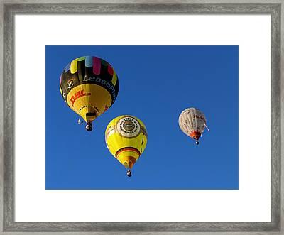 3 Hot Air Balloon Framed Print by John Swartz