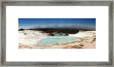 Hot Springs And Travertine Pool Framed Print