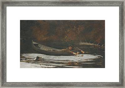 Hound And Hunter Framed Print by Winslow Homer