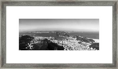 House On The Coast From Corcovado, Rio Framed Print