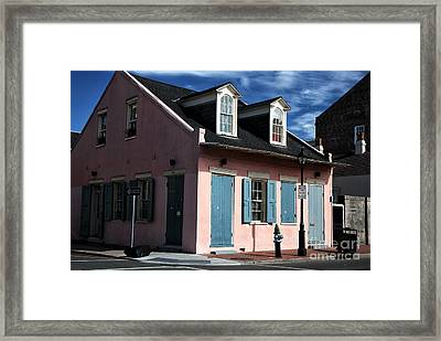 House On The Corner Framed Print by John Rizzuto