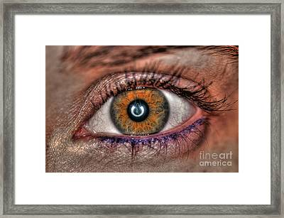 Human Eye Framed Print by Guy Viner