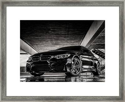 I Take Mine Black Framed Print by Douglas Pittman