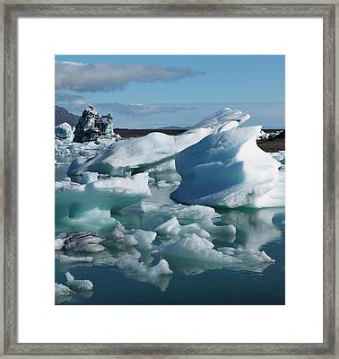 Iceberg Formations Broken Framed Print by Tom Norring