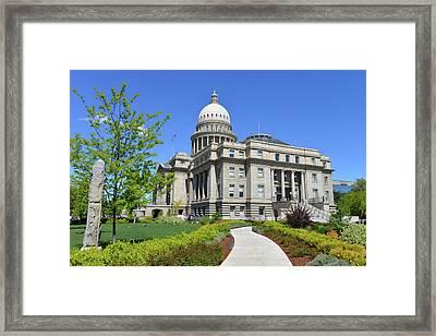 Idaho State Capitol, Boise, Idaho, Usa Framed Print