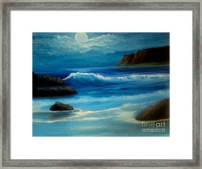 Framed Print featuring the painting Illuminated by Holly Martinson