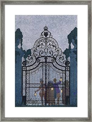 Illustration For 'fetes Galantes'  Framed Print