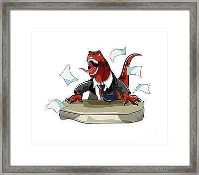 Illustration Of A Tyrannosaurus Rex Framed Print