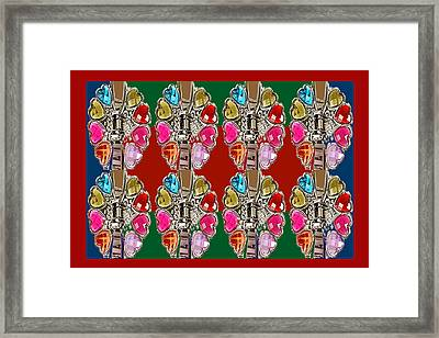 Imitation Jewellery Graphic Design Decorative Patterns Navinjoshi Rights Managed Images Graphic Desi Framed Print by Navin Joshi