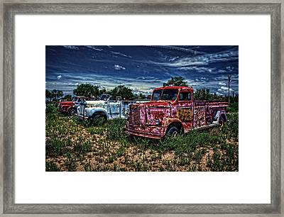 Framed Print featuring the photograph 3 In A Row by Ken Smith