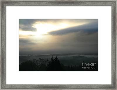 Lyndonville Vermont Early Morning Rain  Framed Print