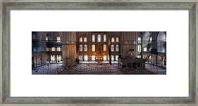 Interiors Of A Mosque, Blue Mosque Framed Print by Panoramic Images