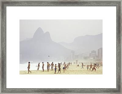 Ipanema Beach, Rio De Janiero,, Brazil Framed Print