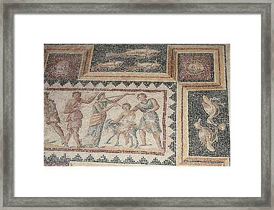 Israel, Lower Galilee, Floor Mosaic Framed Print by Ellen Clark