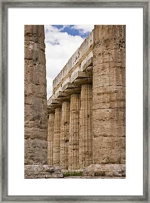 Italy, Campania, Paestum Framed Print