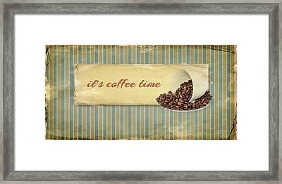 Its Coffee Time Framed Print by Heike Hultsch