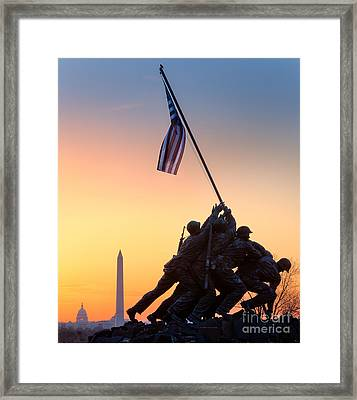 Iwo Jima Framed Print by Inge Johnsson