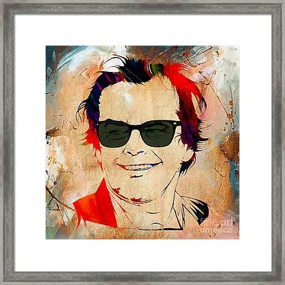 Jack Nicholson Collection Framed Print
