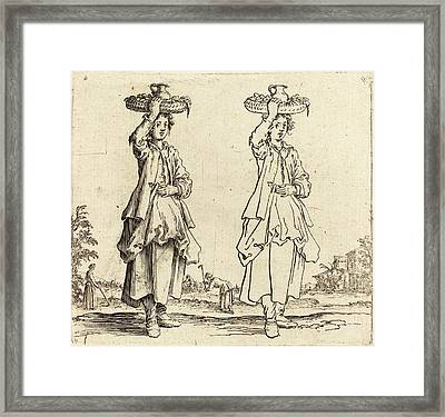 Jacques Callot French, 1592 - 1635, Peasant Woman Framed Print by Quint Lox