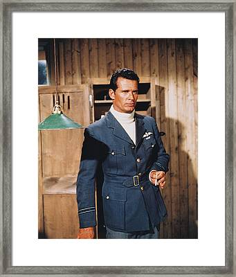 James Garner In The Great Escape Framed Print by Silver Screen