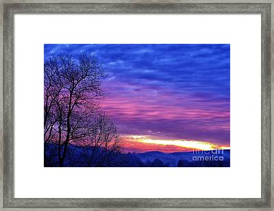 January Sunrise Framed Print by Thomas R Fletcher