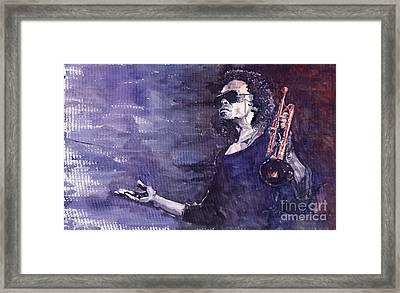 Jazz Miles Davis Framed Print